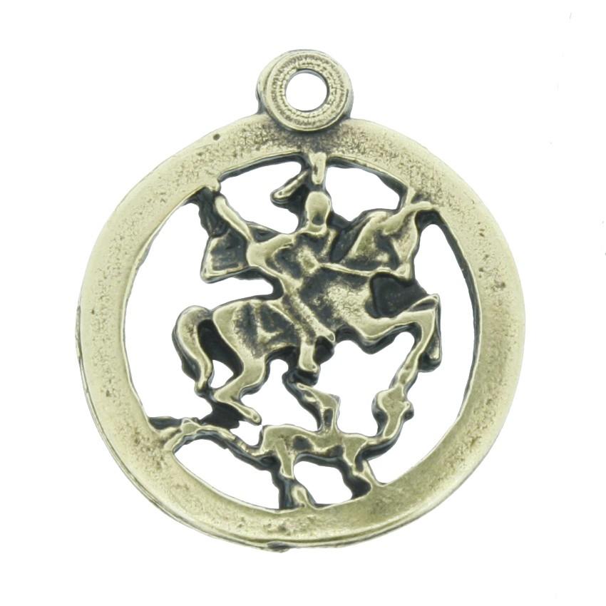 Medalha São Jorge - Ouro Velho - 22mm  - Universo Religioso® - Artigos de Umbanda e Candomblé