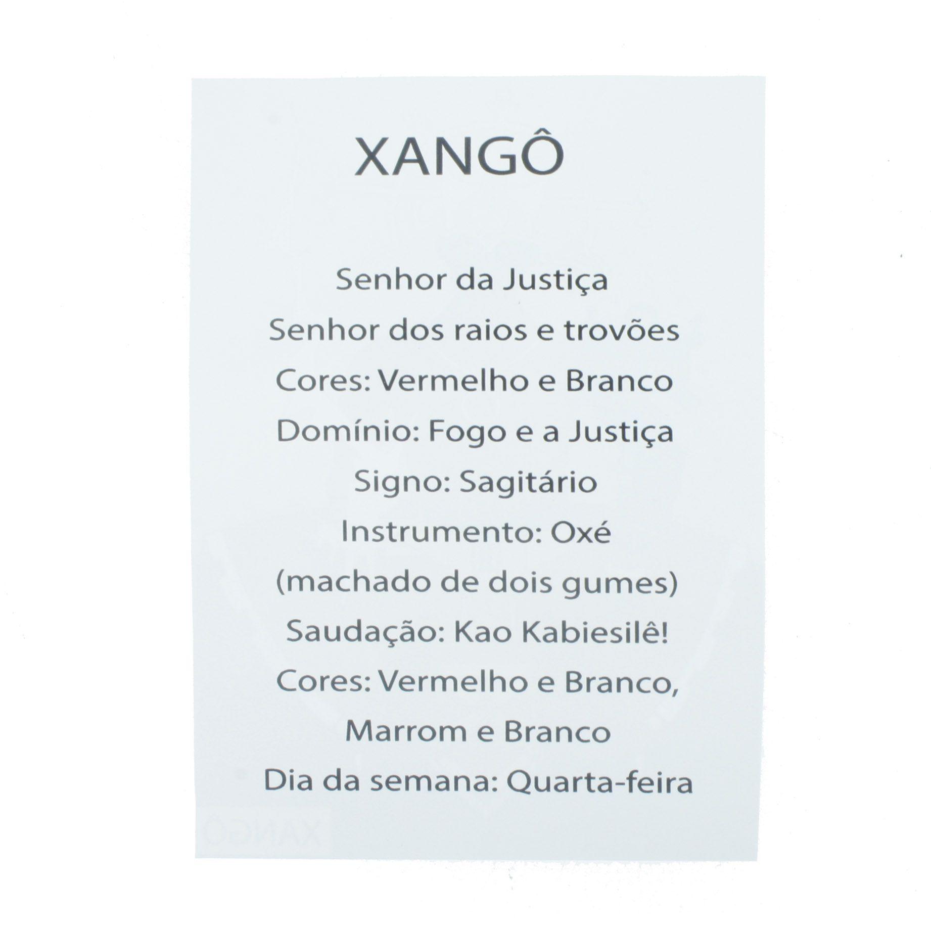 Medalha Xangô + Folheto  - Universo Religioso® - Artigos de Umbanda e Candomblé
