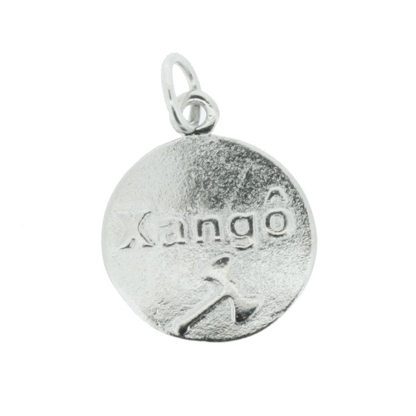 Medalha Xangô - Níquel - 20mm  - Universo Religioso® - Artigos de Umbanda e Candomblé