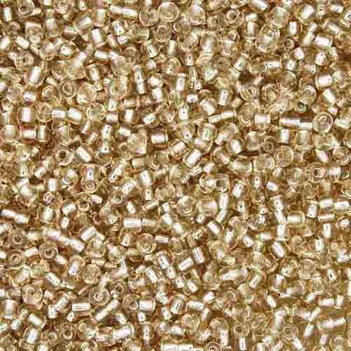 Miçanga 11/0 - 1.5x3.0mm - Dourada Clara Transparente  - Universo Religioso® - Artigos de Umbanda e Candomblé