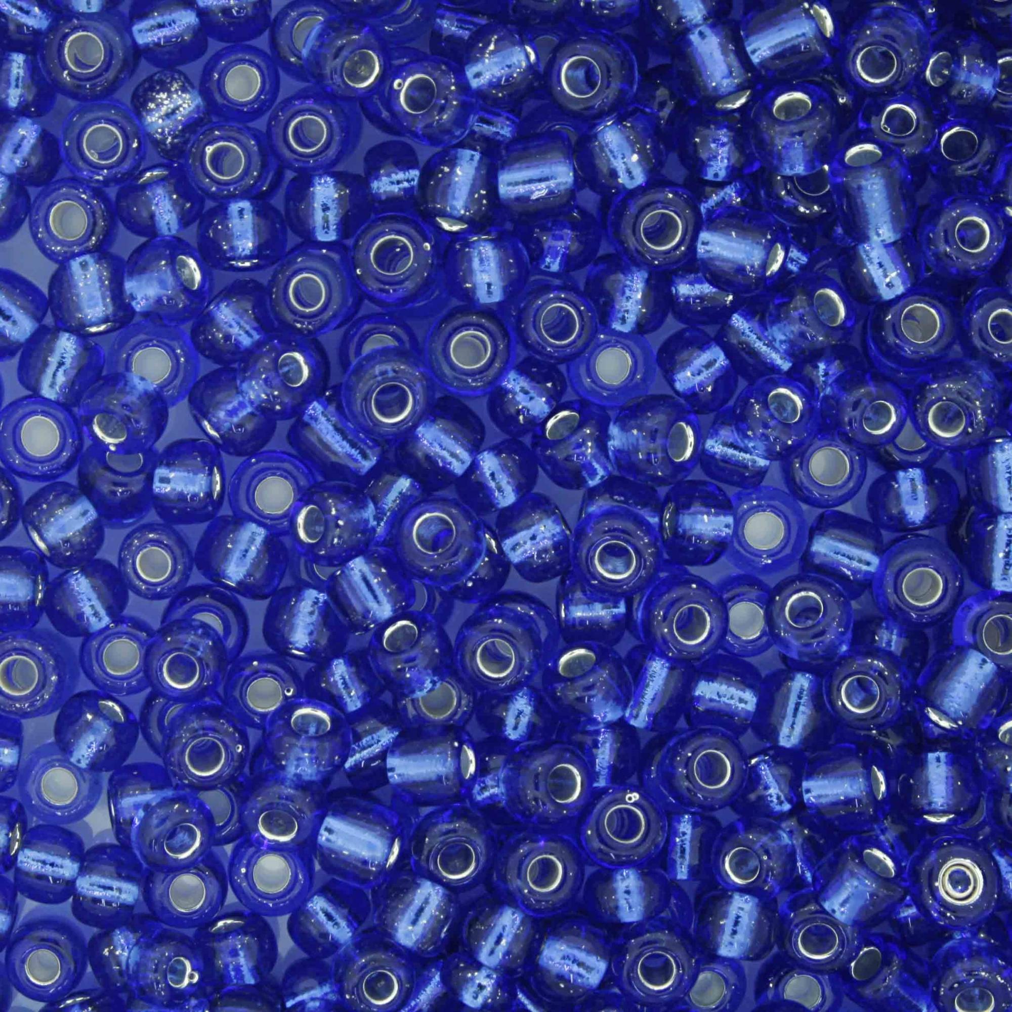 Miçanga 6/0 - 4.0x3.0mm - Azul Royal Transparente  - Universo Religioso® - Artigos de Umbanda e Candomblé