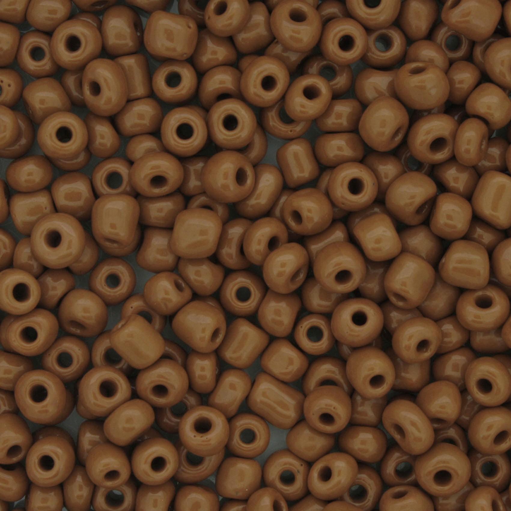 Miçanga 6/0 - 4.0x3.0mm - Marrom Claro  - Universo Religioso® - Artigos de Umbanda e Candomblé