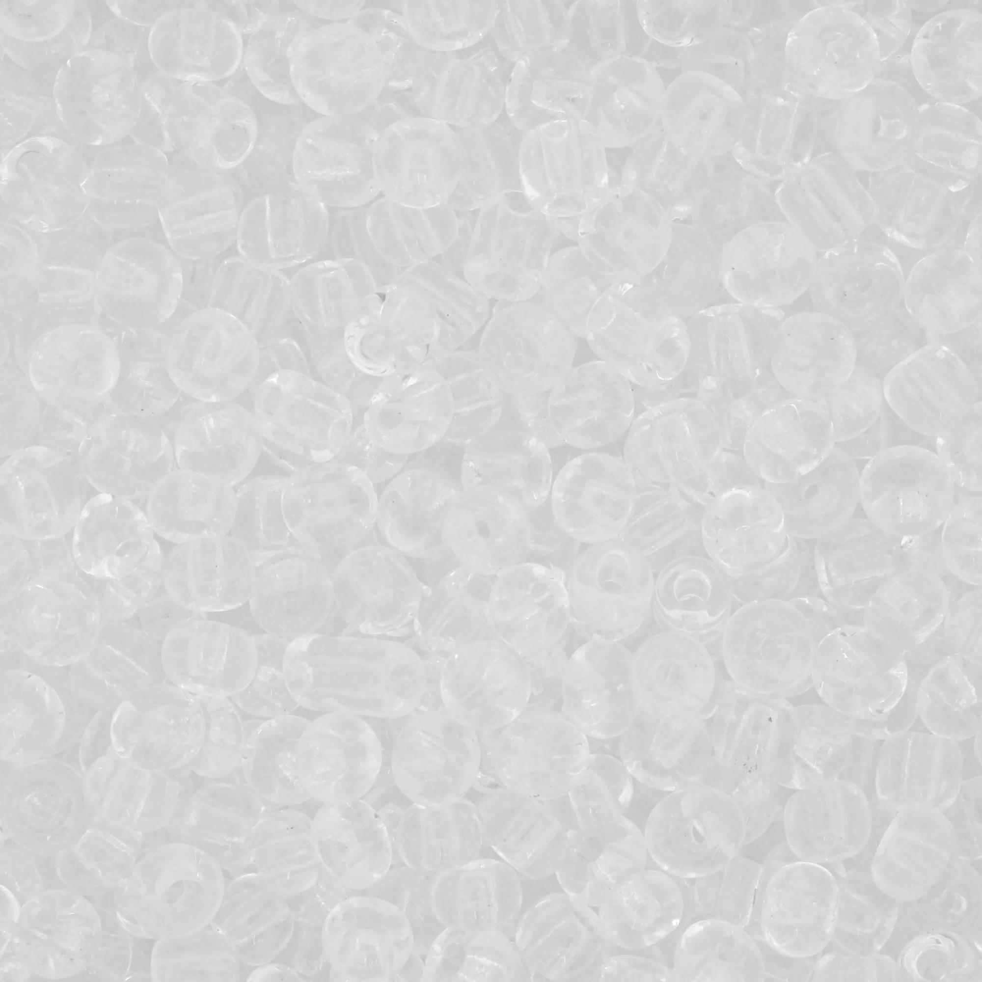 Miçanga 6/0 - 4.0x3.0mm - Translúcida  - Universo Religioso® - Artigos de Umbanda e Candomblé
