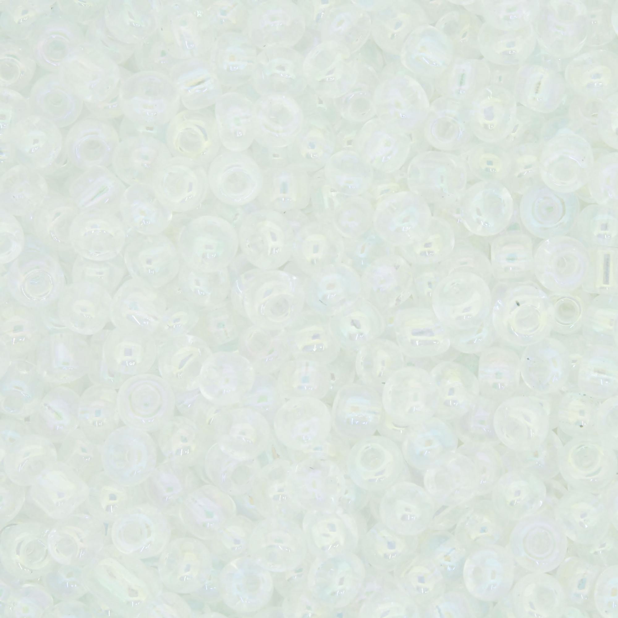 Miçanga 6/0 - 4.0x3.0mm - Transparente Irizada  - Universo Religioso® - Artigos de Umbanda e Candomblé