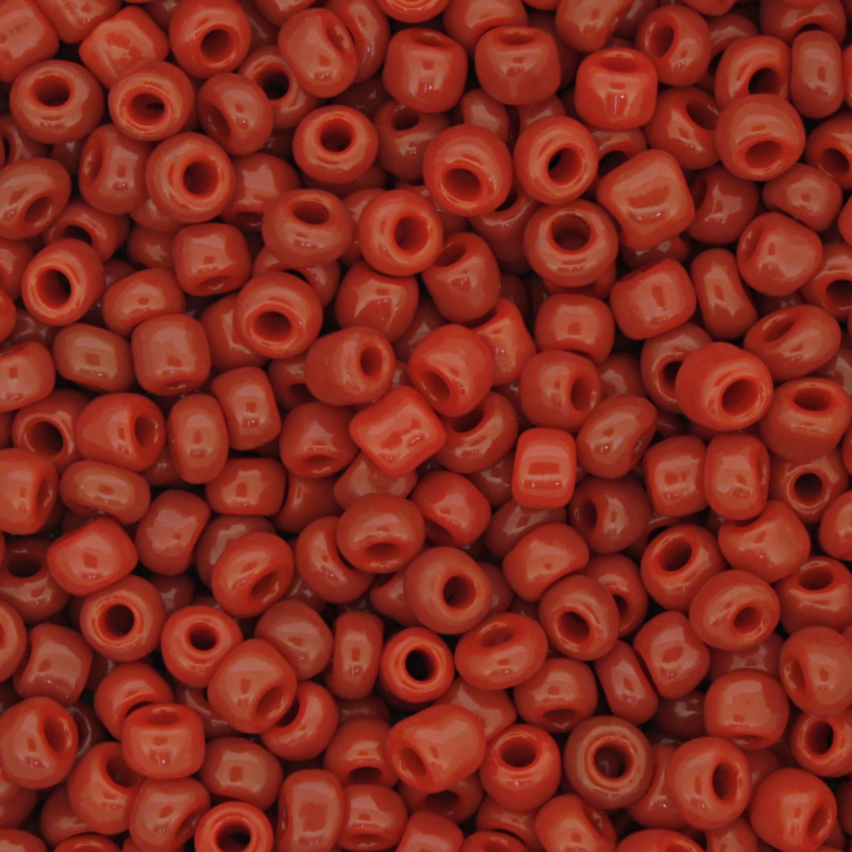 Miçanga 6/0 - 4.0x3.0mm - Vermelha  - Universo Religioso® - Artigos de Umbanda e Candomblé