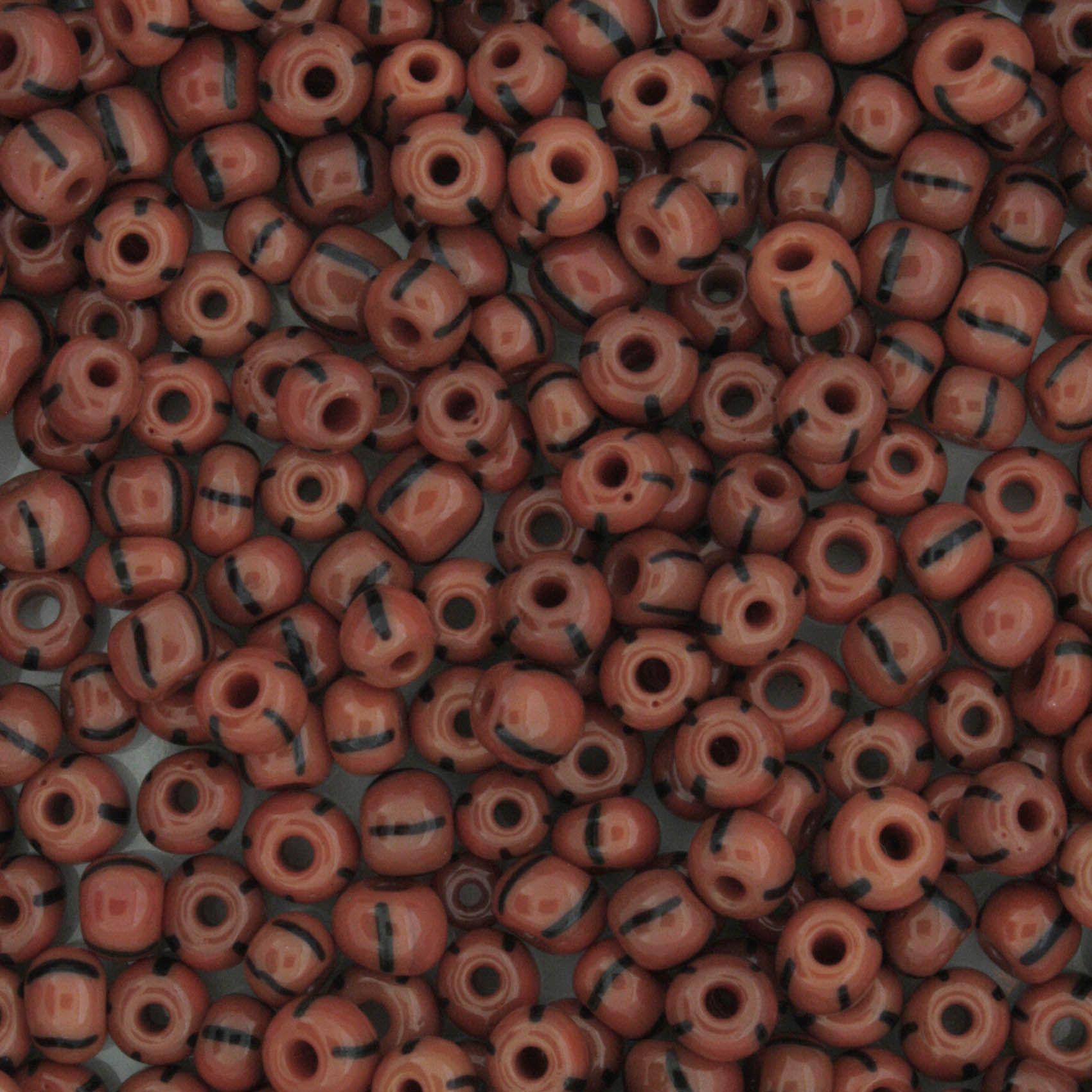 Miçanga 6/0 - 4.0x3.0mm - Vermelha e Preta  - Universo Religioso® - Artigos de Umbanda e Candomblé