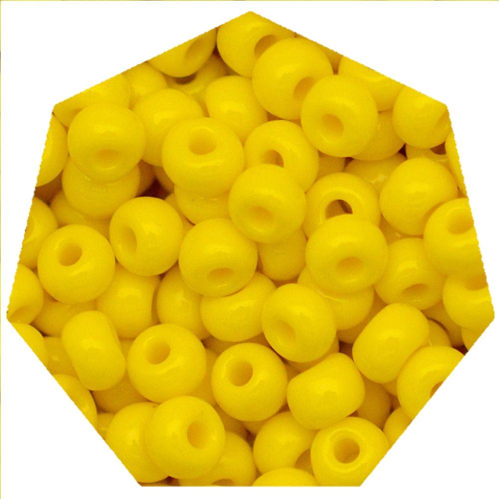Miçanga Jablonex / Preciosa® - 5/0 [4,6mm] -  Amarelo - 500g  - Universo Religioso® - Artigos de Umbanda e Candomblé