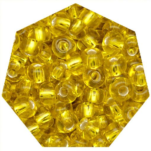 Miçanga Jablonex / Preciosa® - 5/0 [4,6mm] - Amarelo Transparente - 500g  - Universo Religioso® - Artigos de Umbanda e Candomblé