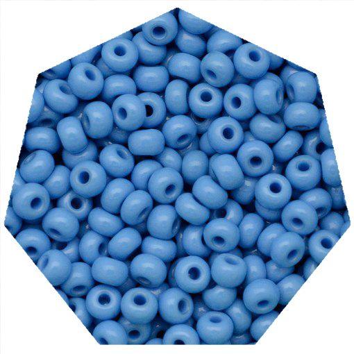Miçanga Jablonex / Preciosa® - 5/0 [4,6mm] -  Azul Água - 500g  - Universo Religioso® - Artigos de Umbanda e Candomblé