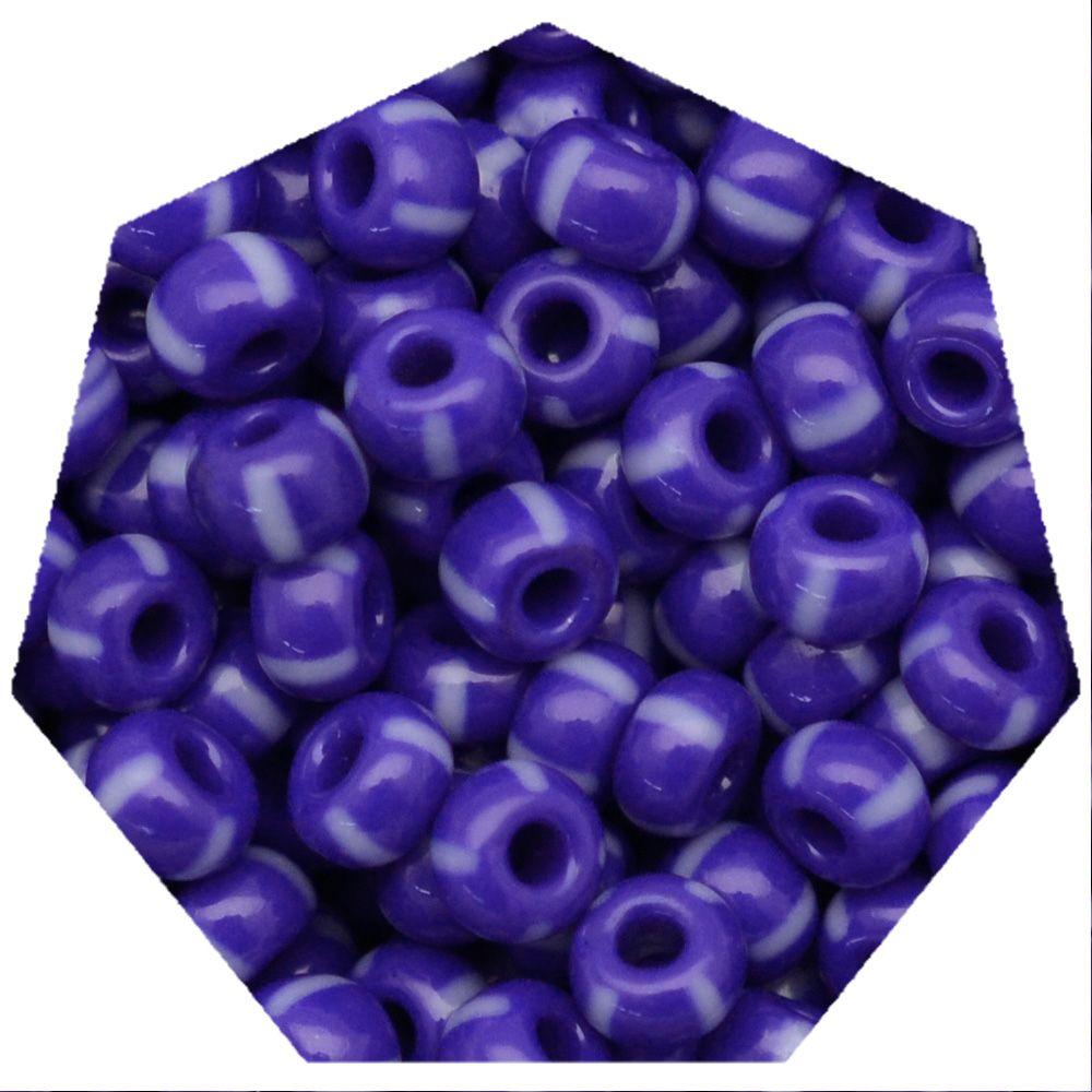 Miçanga Jablonex / Preciosa® - 5/0 [4,6mm] -  Azul Rajada de Branco - 500g  - Universo Religioso® - Artigos de Umbanda e Candomblé