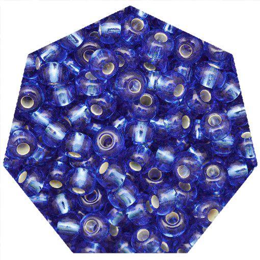 Miçanga Jablonex / Preciosa® - 5/0 [4,6mm] - Azul Transparente - 500g  - Universo Religioso® - Artigos de Umbanda e Candomblé