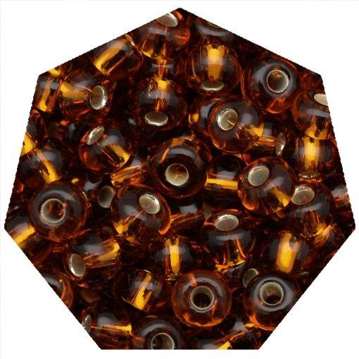 Miçanga Jablonex / Preciosa® - 5/0 [4,6mm] - Ouro Velho Transparente - 500g  - Universo Religioso® - Artigos de Umbanda e Candomblé