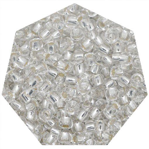 Miçanga Jablonex / Preciosa® - 5/0 [4,6mm] - Prata Transparente - 500g  - Universo Religioso® - Artigos de Umbanda e Candomblé