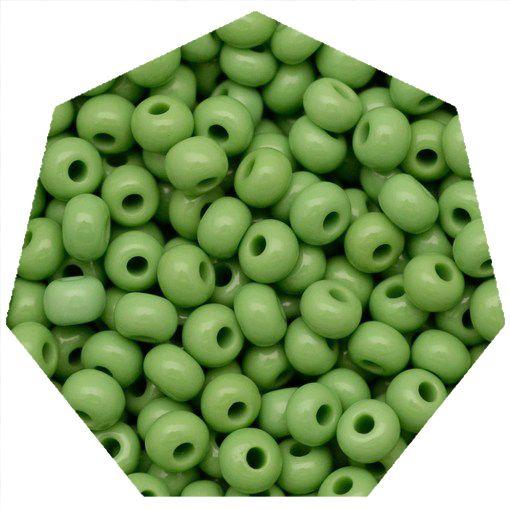 Miçanga Jablonex / Preciosa® - 5/0 [4,6mm] -  Verde Claro - 500g  - Universo Religioso® - Artigos de Umbanda e Candomblé
