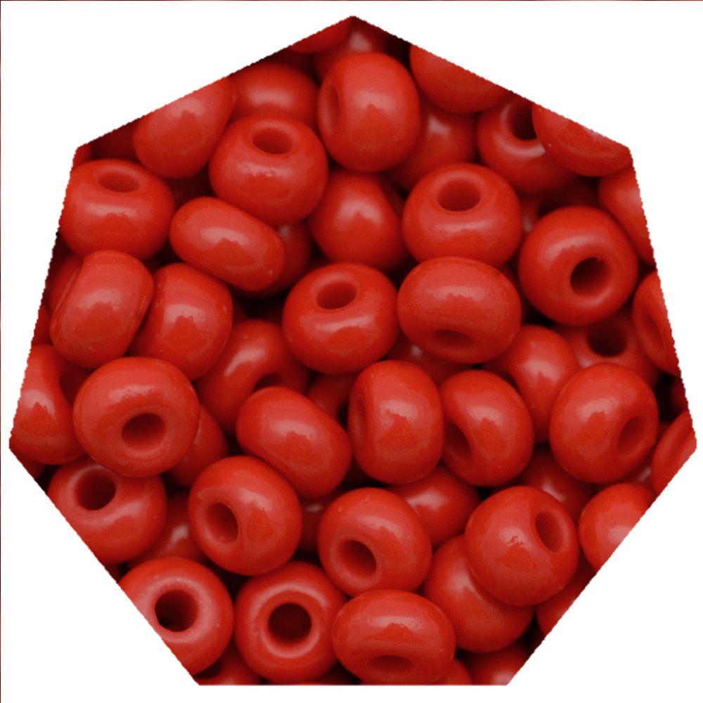 Miçanga Jablonex / Preciosa® - 5/0 [4,6mm] -  Vermelho - 500g  - Universo Religioso® - Artigos de Umbanda e Candomblé