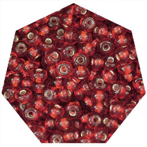 Miçanga Jablonex / Preciosa® - 5/0 [4,6mm] - Vermelho Transparente - 500g  - Universo Religioso® - Artigos de Umbanda e Candomblé