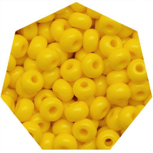 Miçanga Jablonex / Preciosa® - 6/0 [4,1mm] - Amarelo - 500g  - Universo Religioso® - Artigos de Umbanda e Candomblé