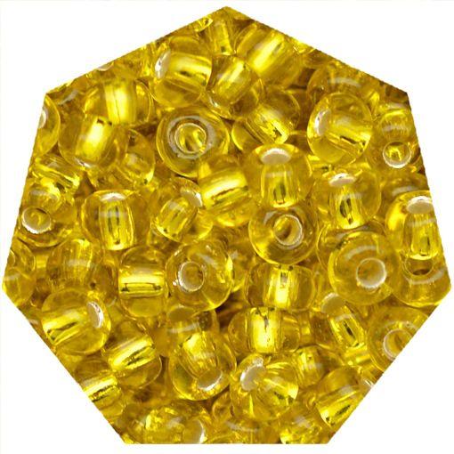 Miçanga Jablonex / Preciosa® - 6/0 [4,1mm] -  Amarelo Transparente - 500g  - Universo Religioso® - Artigos de Umbanda e Candomblé