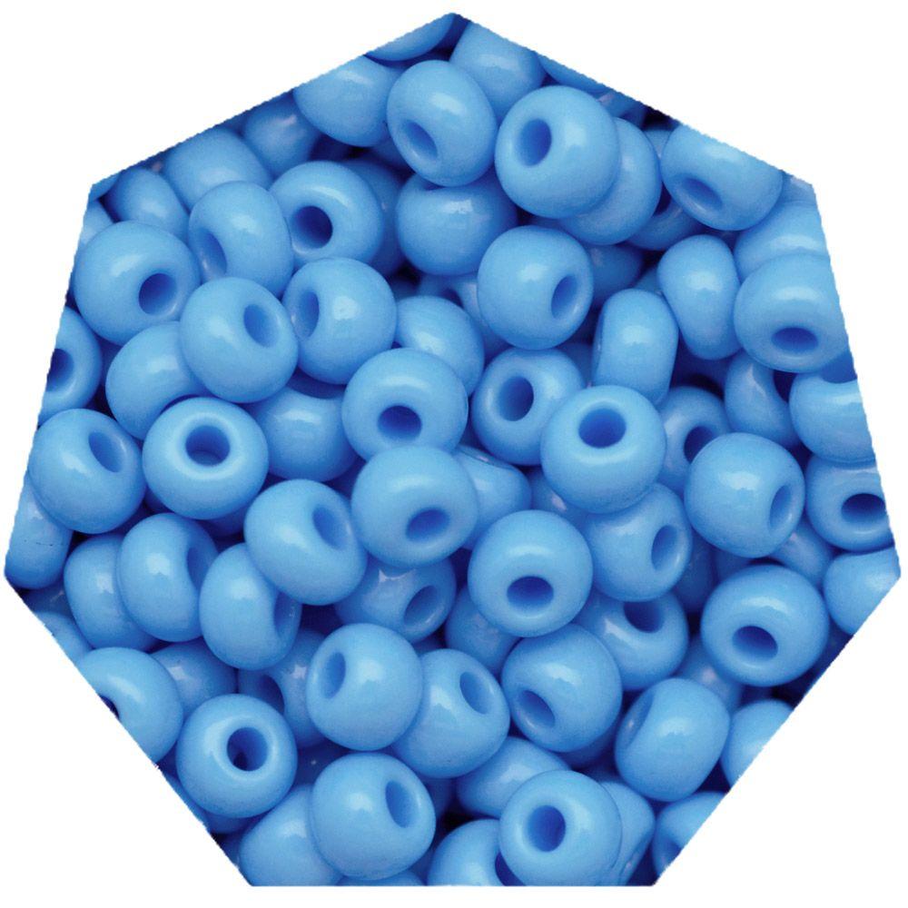 Miçanga Jablonex / Preciosa® - 6/0 [4,1mm] - Azul Água - 500g  - Universo Religioso® - Artigos de Umbanda e Candomblé