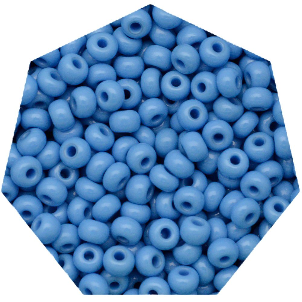 Miçanga Jablonex / Preciosa® - 6/0 [4,1mm] - Azul Água Fosco - 500g   - Universo Religioso® - Artigos de Umbanda e Candomblé