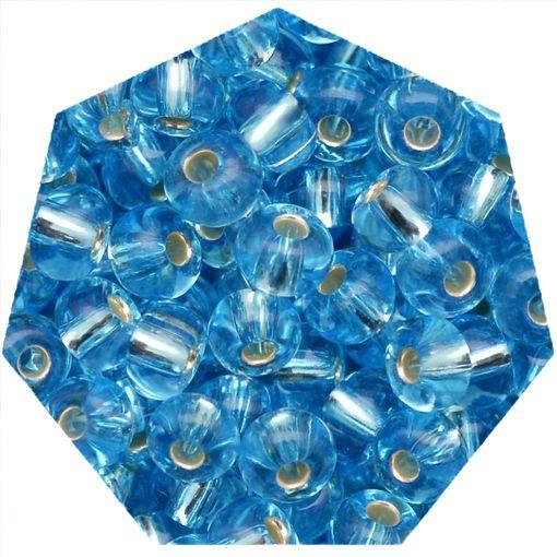 Miçanga Jablonex / Preciosa® - 6/0 [4,1mm] - Azul Água Transparente - 500g   - Universo Religioso® - Artigos de Umbanda e Candomblé