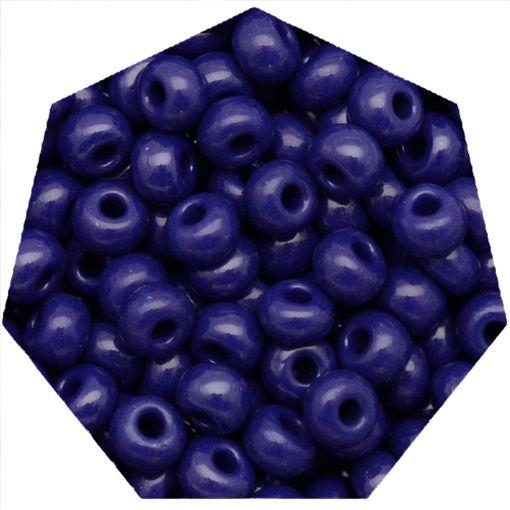 Miçanga Jablonex / Preciosa® - 6/0 [4,1mm] - Azul Fosco - 500g  - Universo Religioso® - Artigos de Umbanda e Candomblé