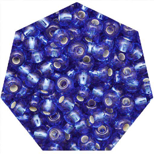 Miçanga Jablonex / Preciosa® - 6/0 [4,1mm] - Azul Transparente - 500g  - Universo Religioso® - Artigos de Umbanda e Candomblé