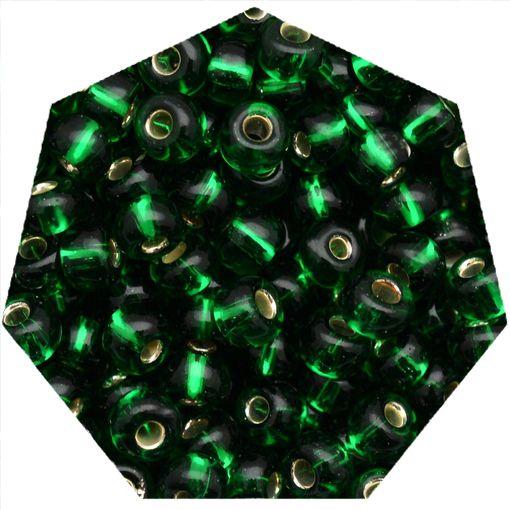 Miçanga Jablonex / Preciosa® - 6/0 [4,1mm] - Verde Transparente - 500g  - Universo Religioso® - Artigos de Umbanda e Candomblé
