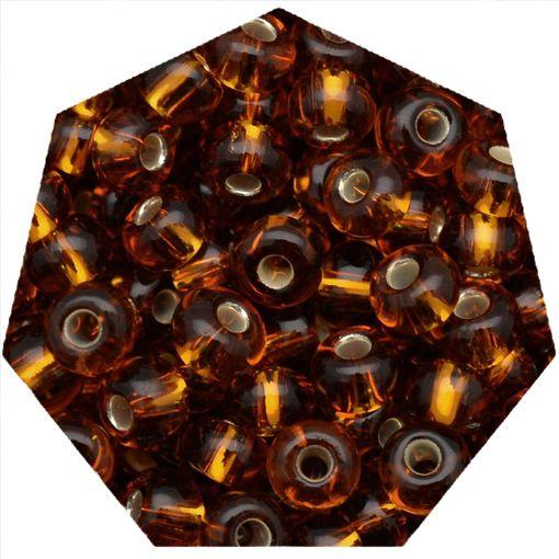 Miçanga Jablonex / Preciosa® - 6/0 [4,1mm] - Ouro Velho Transparente - 500g  - Universo Religioso® - Artigos de Umbanda e Candomblé