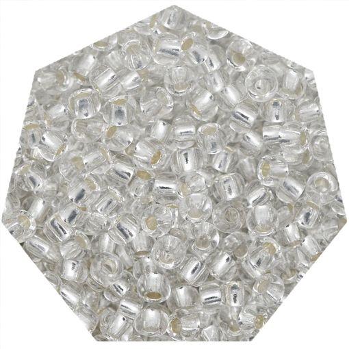 Miçanga Jablonex / Preciosa® - 6/0 [4,1mm] - Prata Transparente - 500g  - Universo Religioso® - Artigos de Umbanda e Candomblé
