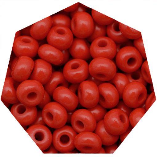Miçanga Jablonex / Preciosa® - 6/0 [4,1mm] - Vermelho - 500g  - Universo Religioso® - Artigos de Umbanda e Candomblé