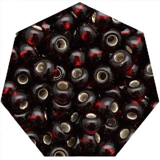 Miçanga Jablonex / Preciosa® - 6/0 [4,1mm] - Vermelho Escuro Transparente - 500g  - Universo Religioso® - Artigos de Umbanda e Candomblé