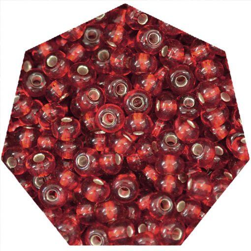 Miçanga Jablonex / Preciosa® - 6/0 [4,1mm] - Vermelho Transparente - 500g  - Universo Religioso® - Artigos de Umbanda e Candomblé