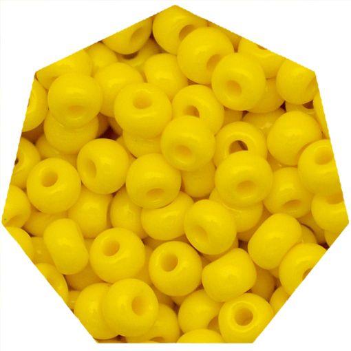 Miçanga Jablonex / Preciosa® - 9/0 [2,6mm] - Amarelo - 500g  - Universo Religioso® - Artigos de Umbanda e Candomblé