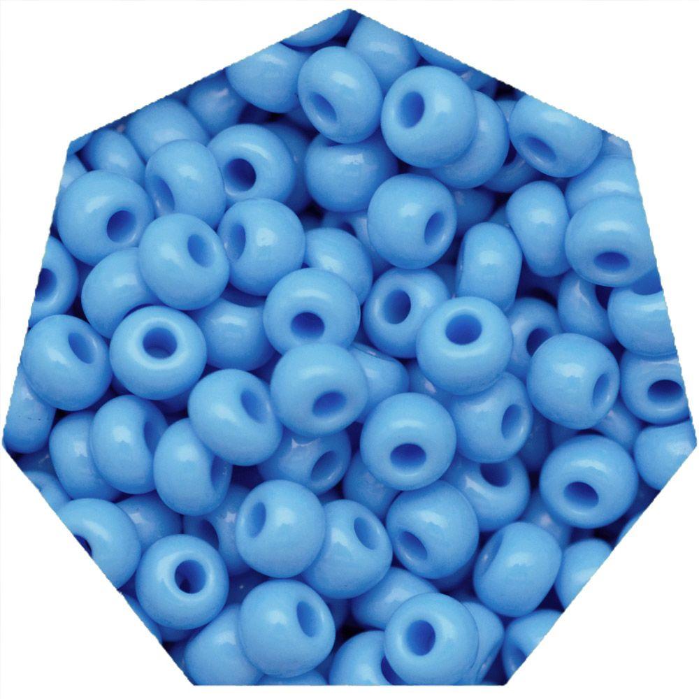 Miçanga Jablonex / Preciosa® - 9/0 [2,6mm] - Azul Água - 500g  - Universo Religioso® - Artigos de Umbanda e Candomblé