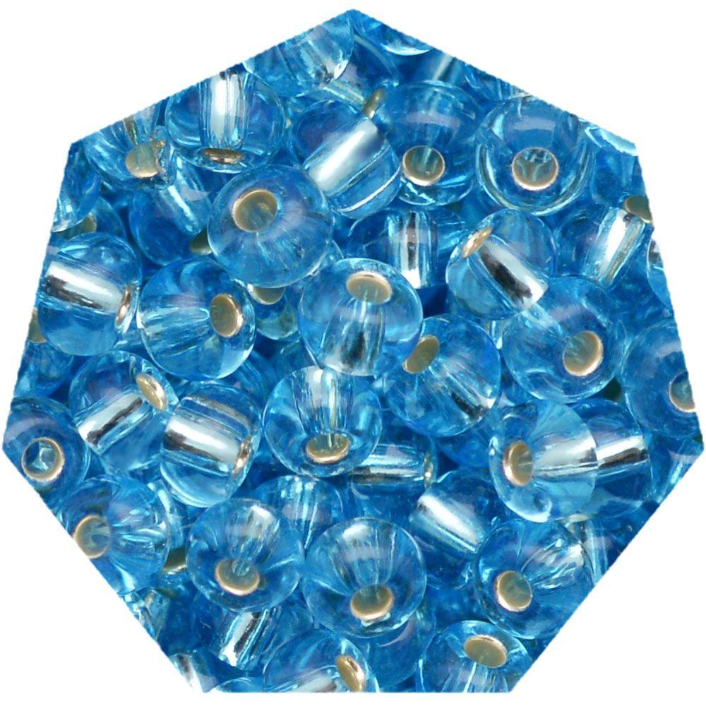Miçanga Jablonex / Preciosa® - 9/0 [2,6mm] - Azul Água Transparente - 500g  - Universo Religioso® - Artigos de Umbanda e Candomblé