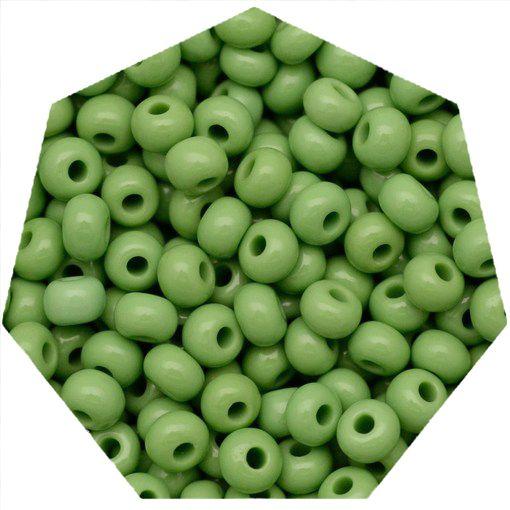 Miçanga Jablonex / Preciosa® - 9/0 [2,6mm] - Verde Claro - 500g  - Universo Religioso® - Artigos de Umbanda e Candomblé