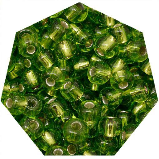 Miçanga Jablonex / Preciosa® - 9/0 [2,6mm] - Verde Claro Transparente - 500g  - Universo Religioso® - Artigos de Umbanda e Candomblé