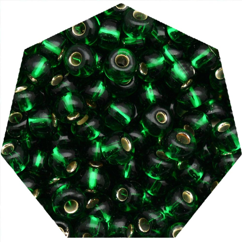 Miçanga Jablonex / Preciosa® - 9/0 [2,6mm] - Verde Transparente - 500g  - Universo Religioso® - Artigos de Umbanda e Candomblé