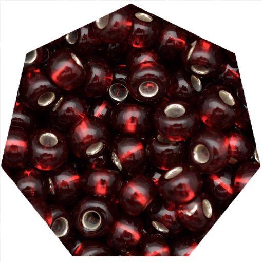 Miçanga Jablonex / Preciosa® - 9/0 [2,6mm] - Vermelho Escuro Transparente - 500g  - Universo Religioso® - Artigos de Umbanda e Candomblé
