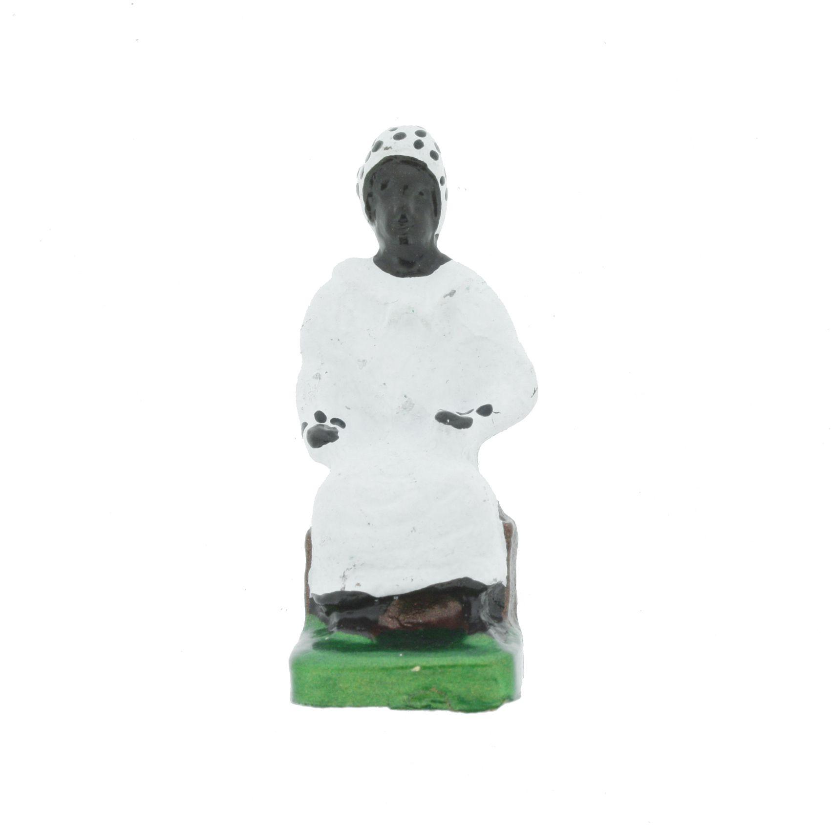 Mini Imagem Metal - Preta Velha  - 44mm  - Universo Religioso® - Artigos de Umbanda e Candomblé