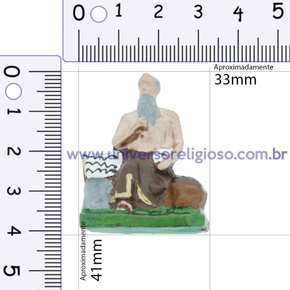 Mini Imagem Metal - Xangô - 41mm  - Universo Religioso® - Artigos de Umbanda e Candomblé