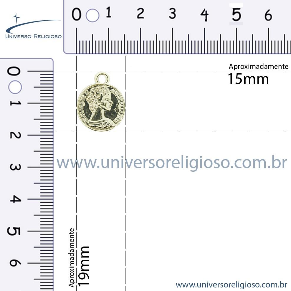Moeda Cigana - Dourada - 19mm  - Universo Religioso® - Artigos de Umbanda e Candomblé