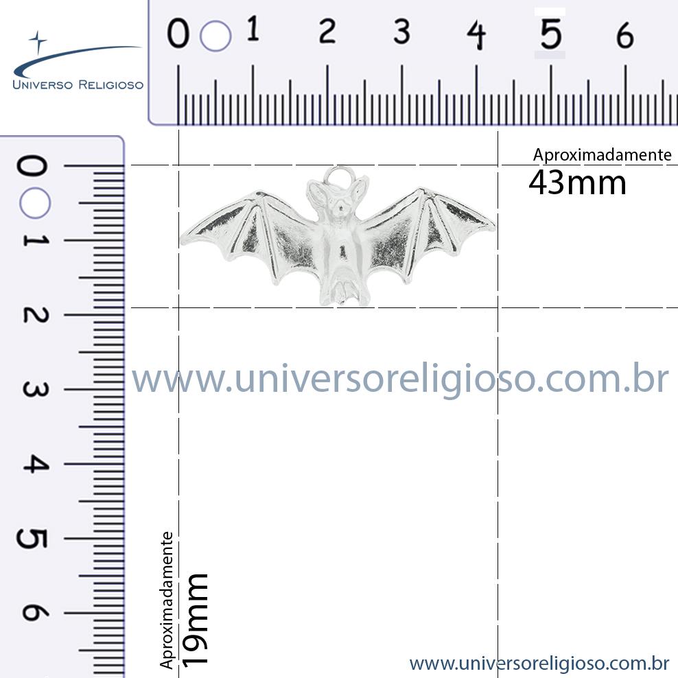 Morcego - Níquel - 19mm  - Universo Religioso® - Artigos de Umbanda e Candomblé