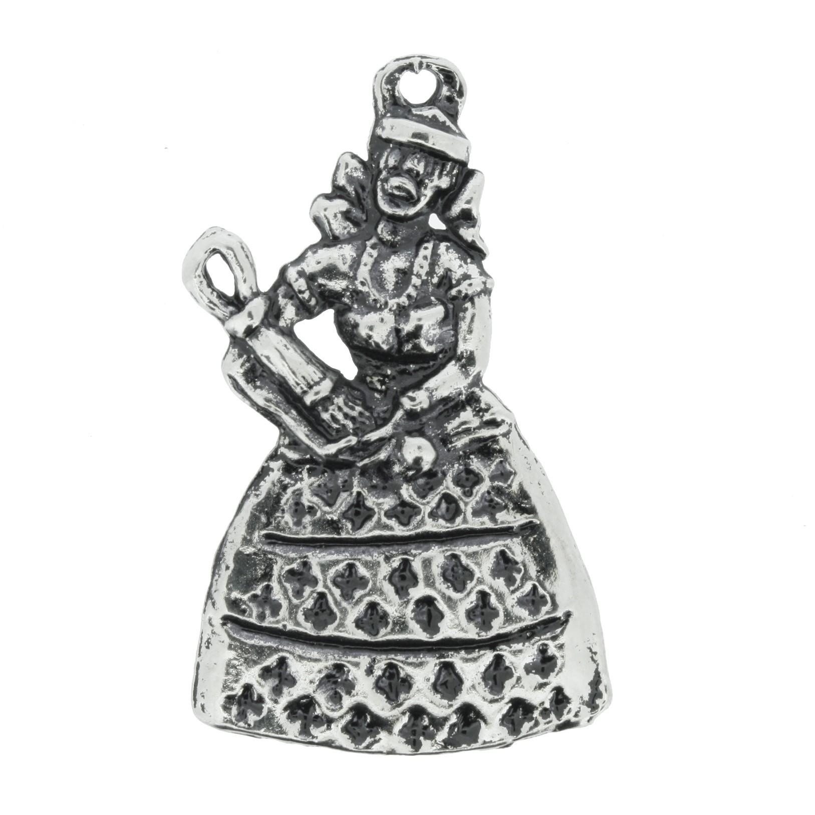 Nanã - Níquel Velho - 43mm  - Universo Religioso® - Artigos de Umbanda e Candomblé