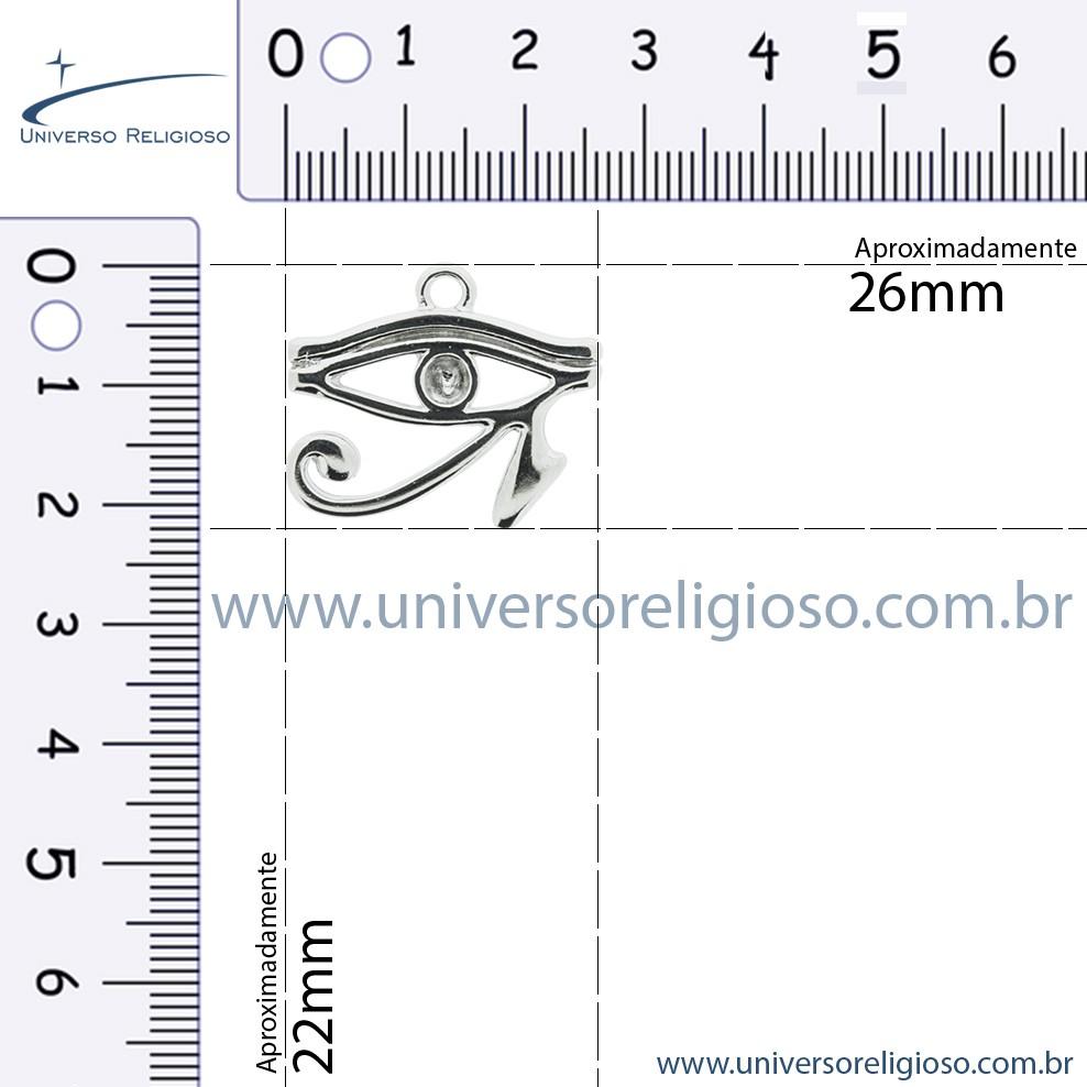 Olho de Horus - Níquel - 22mm  - Universo Religioso® - Artigos de Umbanda e Candomblé