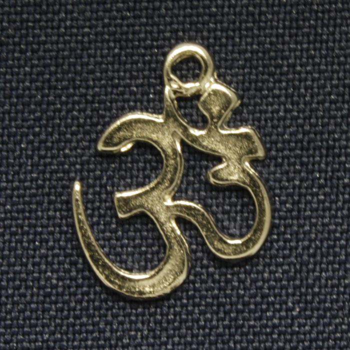 Om - Níquel - 20mm  - Universo Religioso® - Artigos de Umbanda e Candomblé