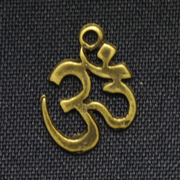 Om - Ouro Velho - 20mm  - Universo Religioso® - Artigos de Umbanda e Candomblé