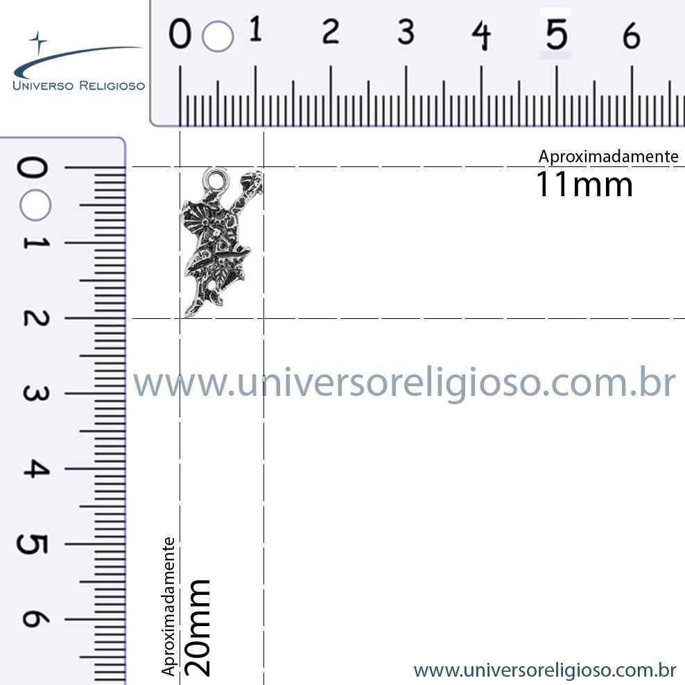 Ossain - Níquel Velho - 20mm  - Universo Religioso® - Artigos de Umbanda e Candomblé