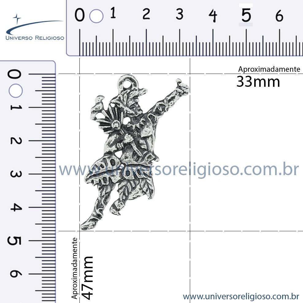 Ossain - Níquel Velho - 47mm  - Universo Religioso® - Artigos de Umbanda e Candomblé